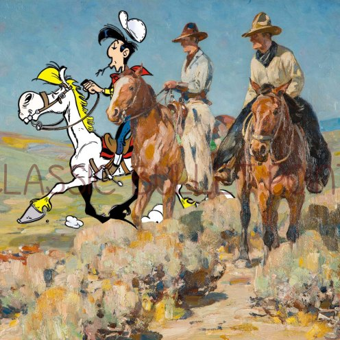 Lucky Luke Playing Cowboy Shelburne Museum