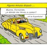 Fernando con Tintín